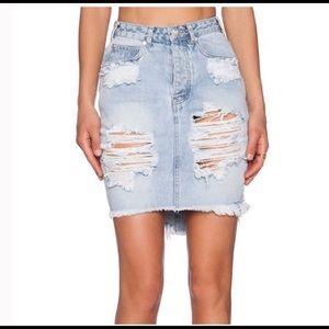 NWT One Teaspoon 2020 Denim Mini Skirt